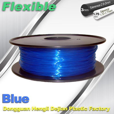 چین High Soft TPU Rubber 3D Printer Filament 1.75mm / 3.0Mm In Blue تامین کننده