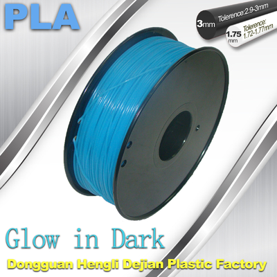چین High strength 1.75mm 3mm PLA  Filament Glow In The Dark Filament For 3D Printer تامین کننده