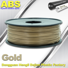 چین Custom Gold Conductive ABS 3d Printer Filament 1.75 mm / 3.0mm Plastic Materials تامین کننده
