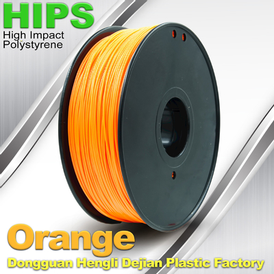 چین Markerbot , Cubify  3D Printing Materials HIPS Filament 1.75mm / 3.0mm Orange Color تامین کننده