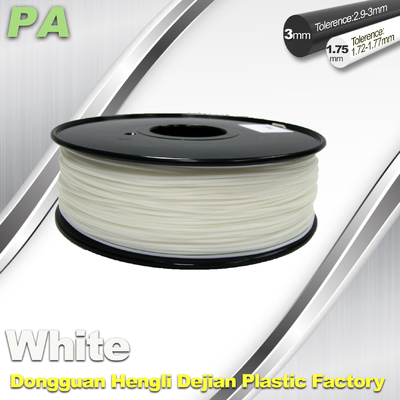 High Strength 3D Printing Nylon Filament 1.75 / 3.0mm Withe no bubble