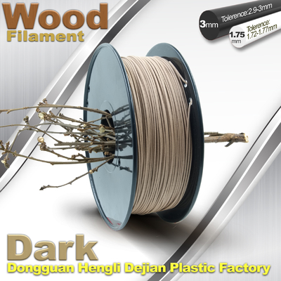 Anti Corrosion Wooden Filament For 3D Wood Printing Material 1.75mm / 3.0mm