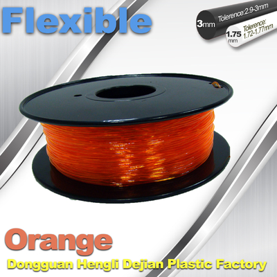 Orange Flexible 3D Printer Filament Consumables With Great Adhesion