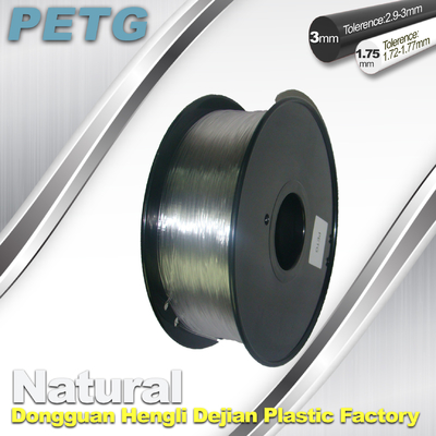 1.75 / 3.0 mm PETG Filament 3D Printing Transparent Materials  1.0KG
