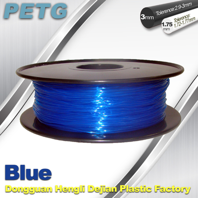 3D Printer Transparent Material 1.75 / 3.0 mm PETG Fliament Blue Plastic Spool